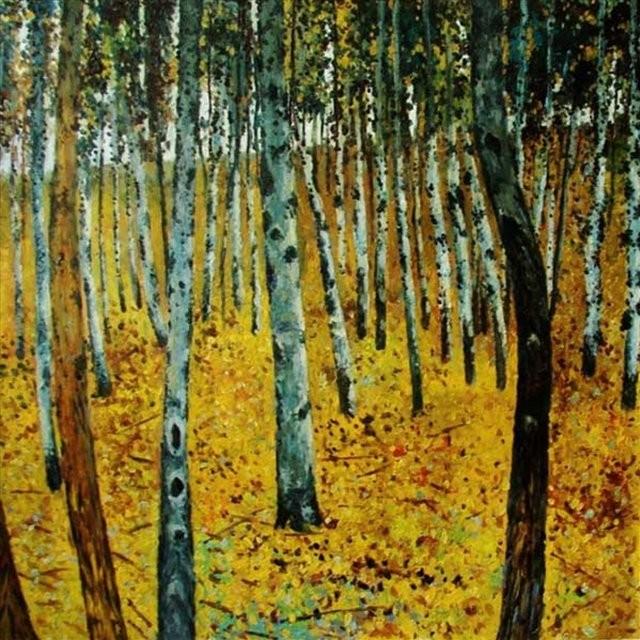 Берёзовый лес I :: ( копия картины Климта ) - копии картин Климта фото
