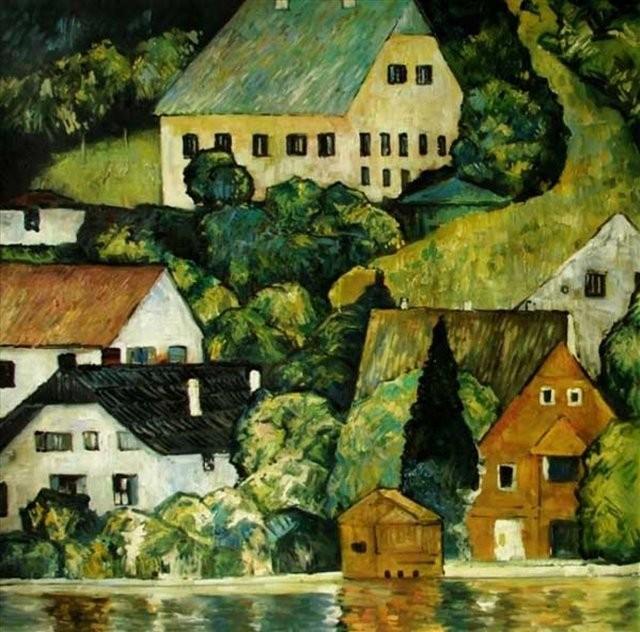 Дома на Аттерзе ( копия картины Климта ) - копии картин Климта фото