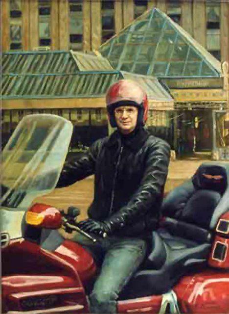 Портрет зам.министра лесной промышленности Ковалёва на мотоцикле - Мужской портрет фото
