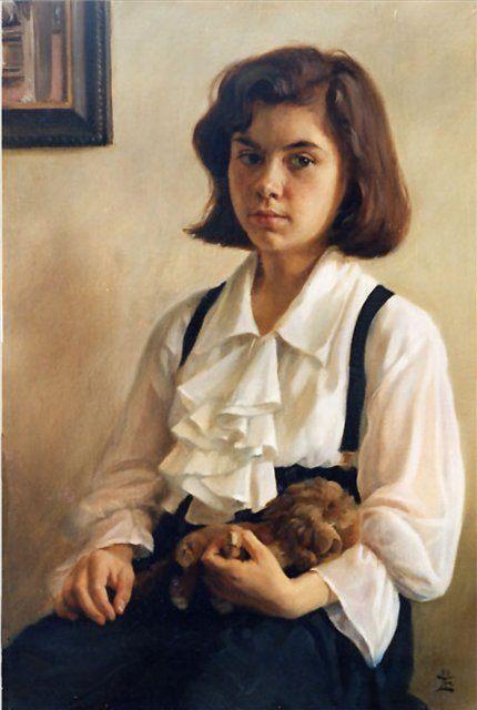 детский портрет < Девочка с игрушечным львом >  :: Е. Демаков - Детский портрет фото