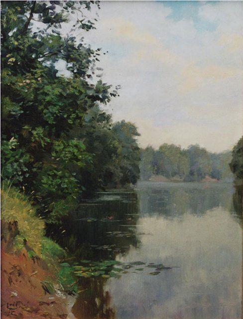 речной пейзаж Тихое утро :: Е. Демаков - пейзажная живопись фото