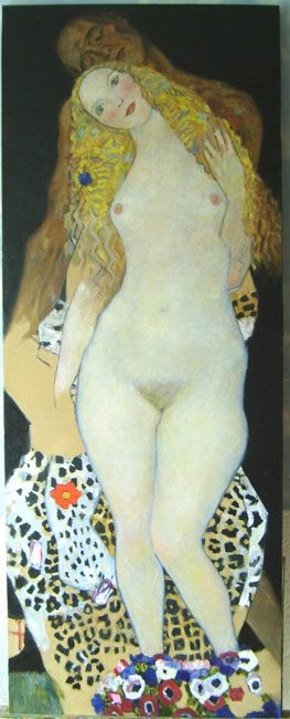копия картины Климта Адам и Ева - копии картин Климта фото