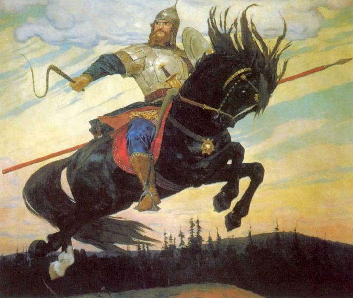 Васнецов В. М. картина «Богатырский скок» - Разное фото