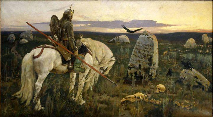 Васнецов Виктор Михайлович. картина «Витязь на распутье» - Разное фото