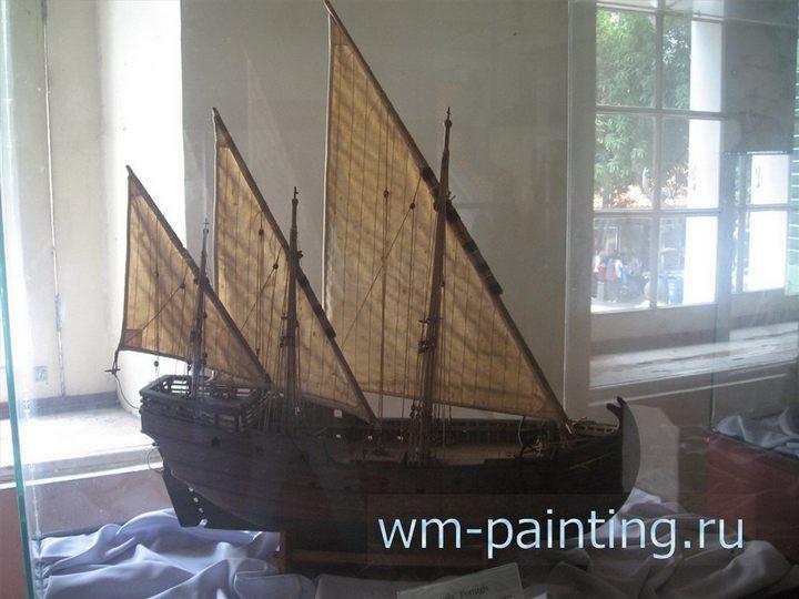 Исторический музей Джакарты,  Португальская каравелла. Модель