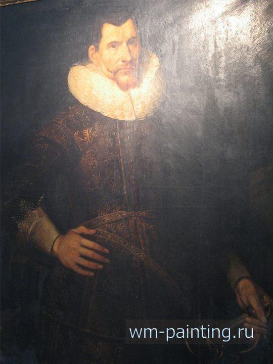 Портрет генерал-губернатора Джакарты, основателя форта Батавия, Ян Питерсзона Куна (1587 – 1629). Копия портрета работы Якоба Уа