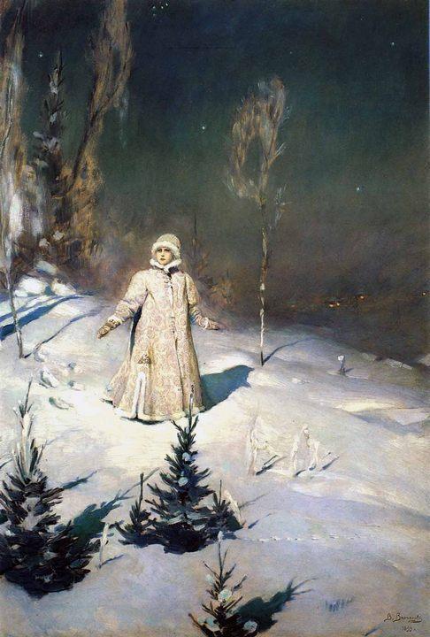 Васнецов Виктор Михайлович. картина «Снегурочка», описание картины  - Разное фото
