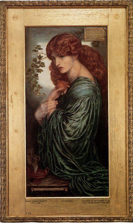 портрет девушки Прозерпина (Proserpine) :: Данте Россетти - Разное фото