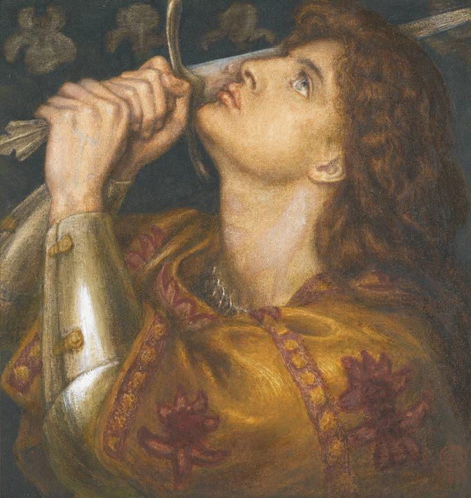 портрет Жанны д'Арк Данте Габриэль Россетти - Разное фото