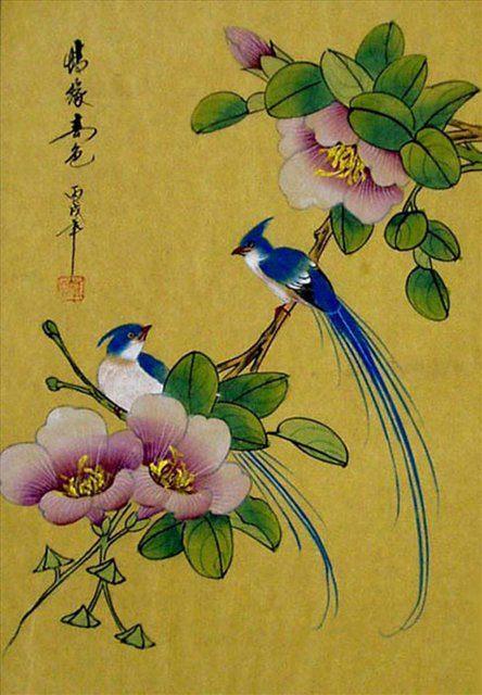 Цветы и птицы :: Жанг Фей ( Жанг Фенг ) ( Китай ) - Современный натюрморт художников мира фото