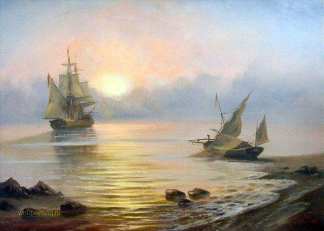 морской пейзаж Начало :: А. Милюков - копии - Морские пейзажи фото