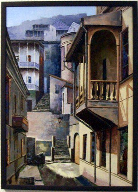 Старый Тбилиси ( картина по старинной фотографии ) - Архитектура фото