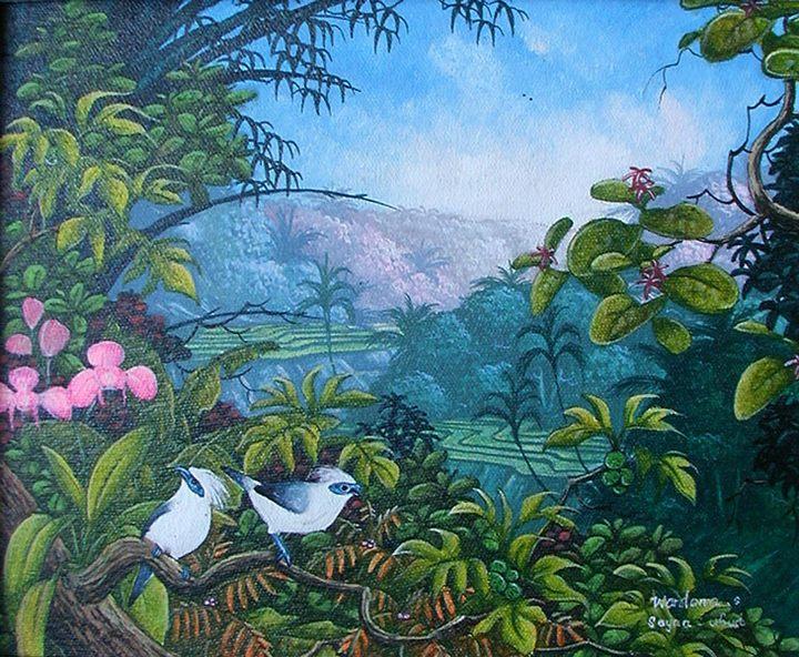 картина <Флора и Фауна> :: Натук ( Бали, Индонезия ) - Пейзажи ( пейзажная живопись ) фото