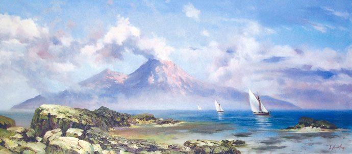 Вид на Везувий :: А. Милюков - Морские пейзажи (современная марининстика) фото