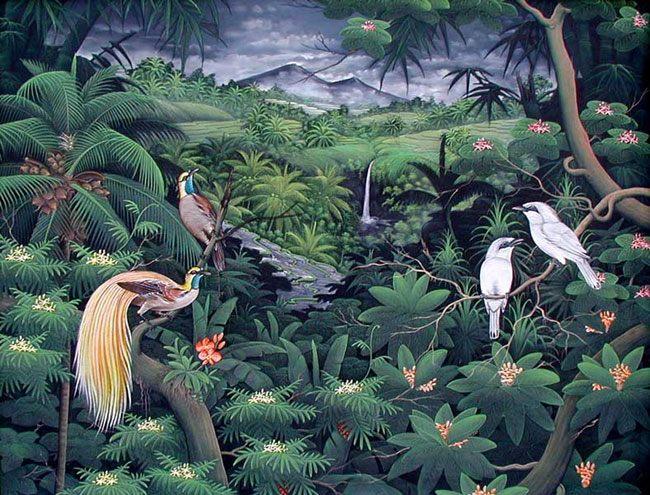 картина <Райские птицы> :: Гобанк - Пейзажи ( пейзажная живопись ) фото