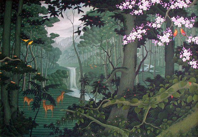 пейзажи Бали Лес :: Лаут ( Бали, Индонезия ) - пейзажная живопись фото