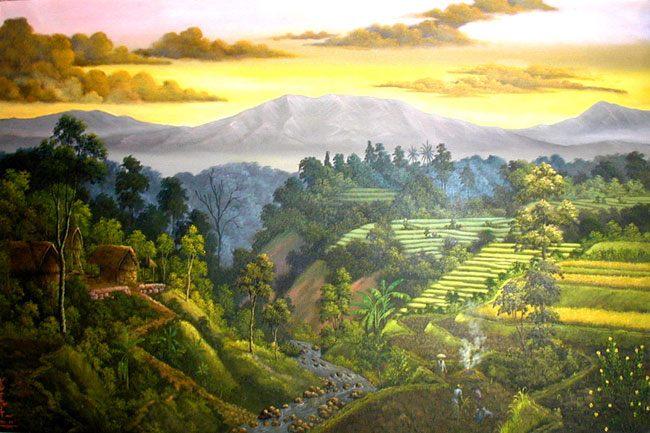 пейзаж <Вид на горы> ::  Рахи ( Бали, Индонезия ) - Пейзажи ( пейзажная живопись ) фото