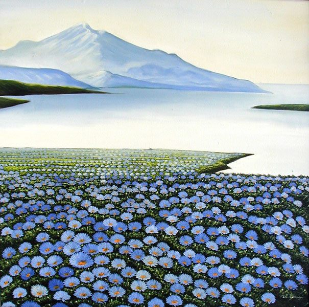 пейзаж Горы и цветы ::  Рахи ( Бали, Индонезия ) - пейзажная живопись фото