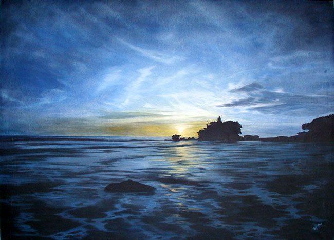 пейзаж <храм Природы> :: Сил Танах ( Бали, Индонезия ) - Пейзажи ( пейзажная живопись ) фото