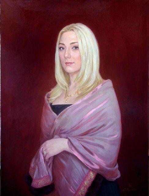 Портрет Анны Степанян :: художник Е. Демаков - Женский портрет фото