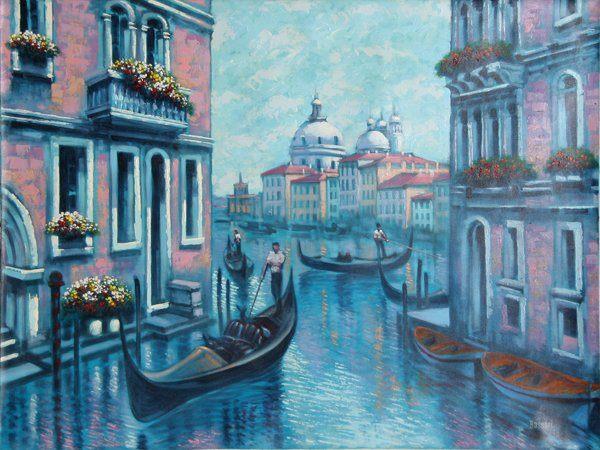 картина < Венеция > - Городской пейзаж, архитектура фото