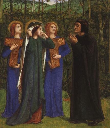 Встреча Данте и Беатриче в раю :: Данте Габриэль Россетти  - Разное фото