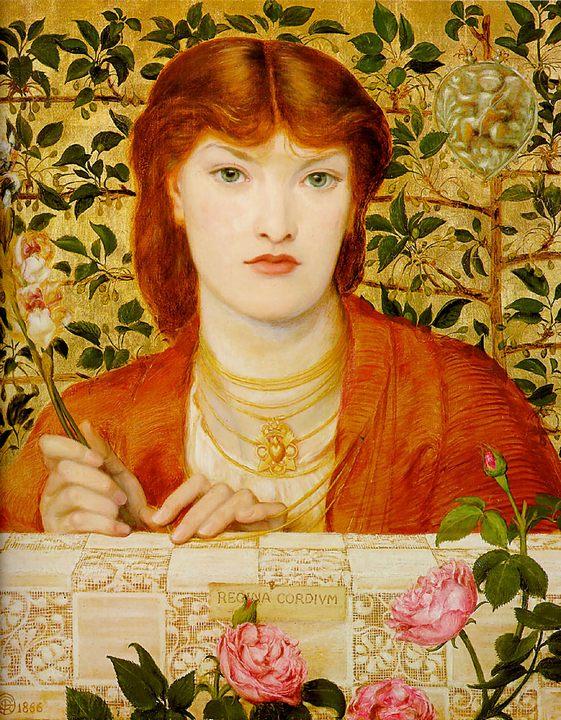 портрет девушки с орнаментом Regina Cordium :: Данте Габриэль Россетти - Разное фото