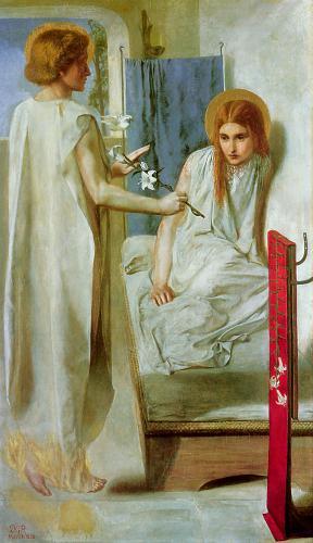 картина Ecce Ancilla Domini! - се, раба Господня :: Данте Габриэль Россетти - Разное фото