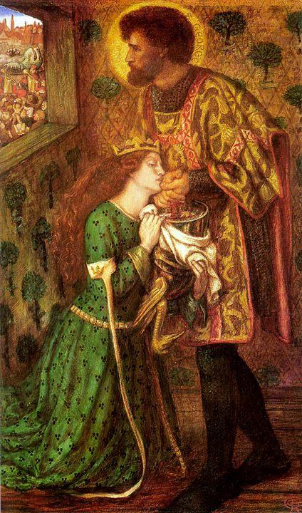 Святой Георгий и принцесса Сабра :: Данте Габриэль Россетти - Разное фото