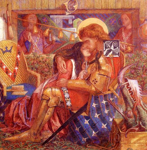 картина Свадьба Святого Георгия и принцессы Сабра  :: Данте Габриэль Россетти - Разное фото