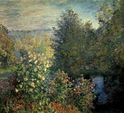 Картина Клода Моне Уголок сада в Монжероне