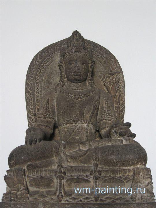 Статуя Будды. II – III в.в. Остров Ява. Скульптура - Джакарта. Национальный музей истории и культуры Индонезии