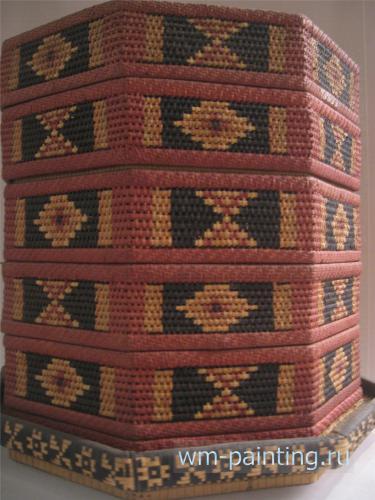 Плетение из ратана. Сулавеси.   - Национальный музей истории и культуры Индонезии.