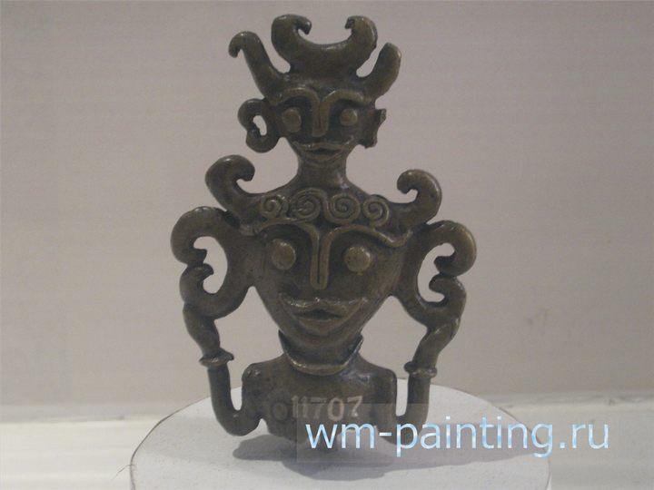 Навершие жезла шамана с севера Сулавеси. Фигура воспроизводит изображение божества плодородия Лумимуут народа минахасов.