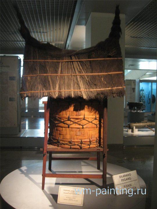 Модель амбара для хранения риса. Западная Суматра.
