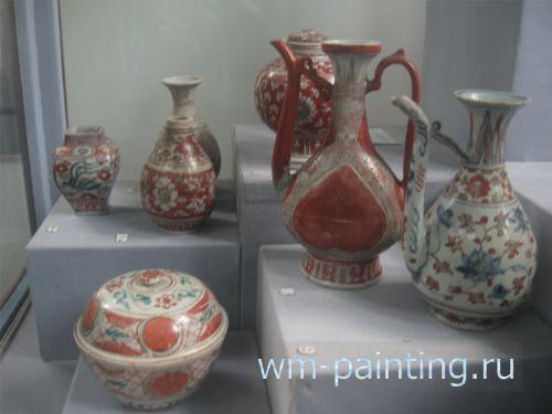 Коллекция экспортного фарфора «красного стиля Мин». Китай. Династия Мин.