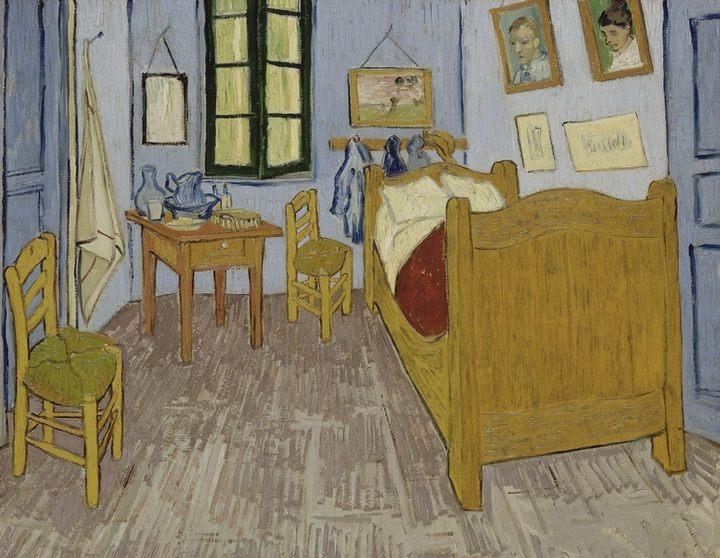 Спальня Ван Гога в Арле, 1889, иллюстрация к выставке Винсент Ван Гог - Антонен Арто. Самоубитый обществом