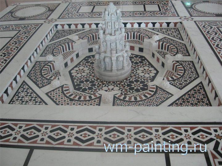 Мраморный фонтан из дворца Мамлюк XVI век. Фонтан сделан из керамики, сталактитов и мрамора.