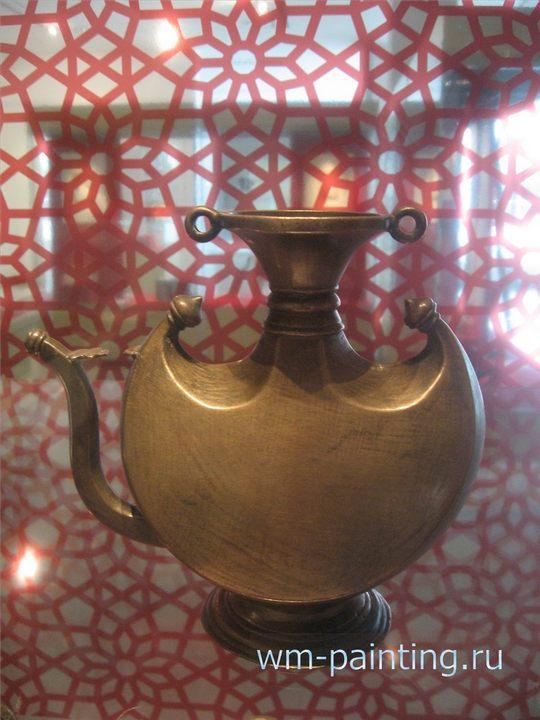 Фляжка пилигрима. Бронза. Индия. XVII  Музей искусства Ислама. Куала Лумпур