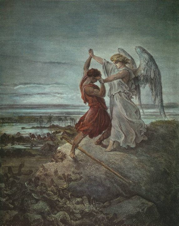 �������, ������� - Jacob wrestling with the angel � 1855 - ������, ����������� � ������� � 1855  - ������ ����