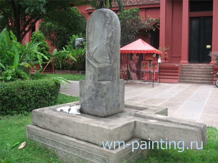 Линга-йони, алтарь, символизирующий слияние двух начал, женского и мужского, символ жизни и продолжения рода. Алтарь IX века.