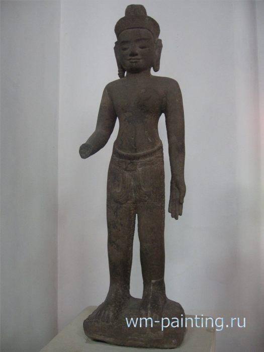 Ардханаришвара. Ангкорский период. Стиль Байон. Начало XIII века. Сием-Риеп. Песчаник.
