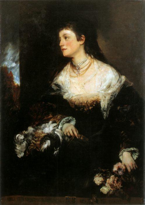 картина Адель графиня Вальдштейн-Вартенберг (женский портрет) :: Ганс Макарт - Разное фото