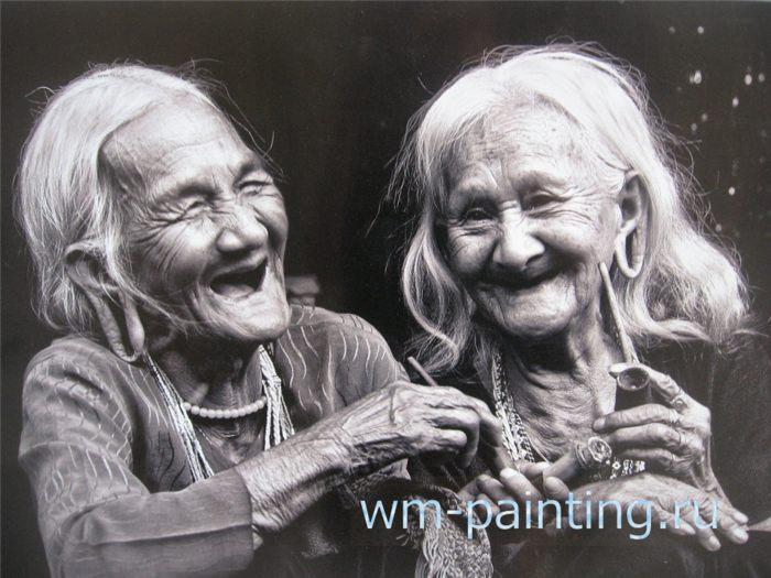 Фотограф Нго Динь Хоа. Две сестры (народность Ма, известная своей традицией большого пирсинга на мочках ушей). Провинция Дак Нон