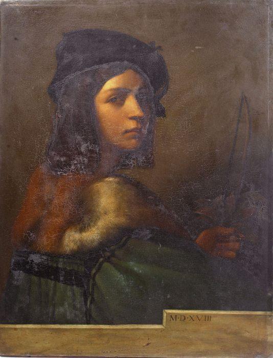 Себастиано дель Пьомбо, масло на панели 69 x 53 см, Автопортрет