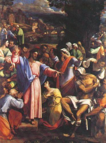 картина Воскрешение Лазаря, Себастьяно дель Пьомбо - Национальная галерея, Лондон