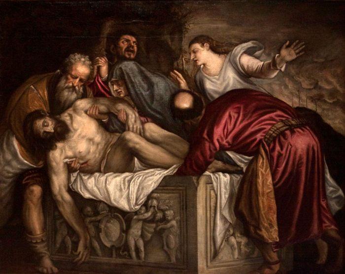 Тициан, 1559 г. картина Положение во гроб