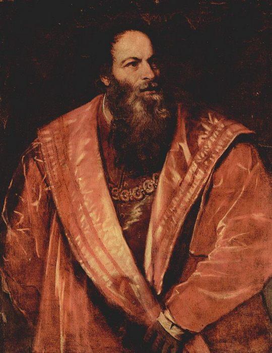 Тициан, Портрет Пьетро Аретино,  около 1545 г.