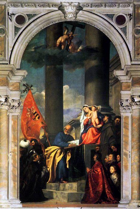 Вечеллио Тициан, Мадонна Пезаро  [1519-1521], Венеция, церковь Фрари