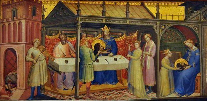 картина Лоренцо Монако «Пир Ирода» - Итальянская живопись 13-14 веков